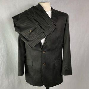 Jos A bank 43L olive brown 2 piece suit